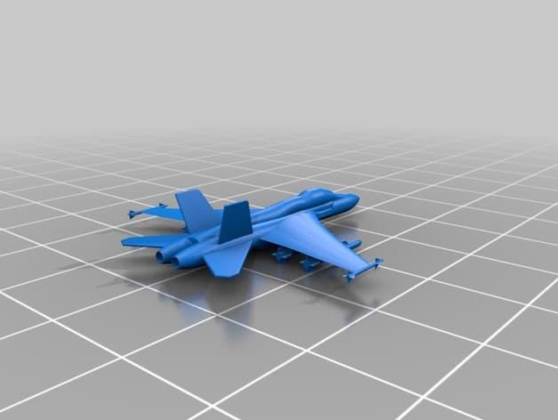 F 18 Super Hornet Free 3d Printer Models